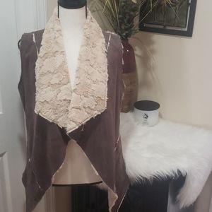 Double Zero faux suede vest